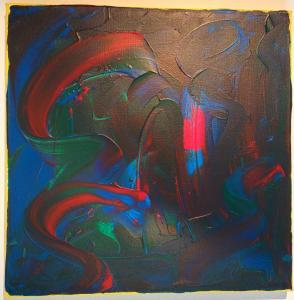 003, Feuerwerk Leinwand, Acryl      40 x 40