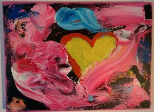 004, La vie en rose Leinwand, Acryl     30 x 40