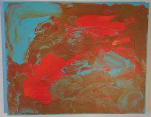 006, Abendrot Leinwand, Acryl     40 x 50