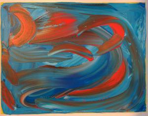 007, Energie I  Leinwand, Acryl     27 x 35