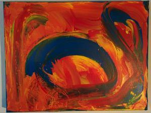 008, Energie II  Leinwand, Acryl     27 x 35