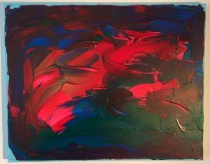 012, Energie III  Leinwand, Acryl     40 x 50