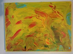 013, Fröhlichkeit  Leinwand, Acryl     30 x 40