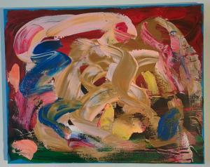 014, Regenbogen  Leinwand, Acryl     40 x 50