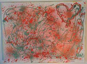 015, Freudiges Herz  Leinwand, Acryl     30 x 40