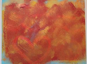 017, Verspieltes Herz II, Leinwand, Acryl, 40x x 50