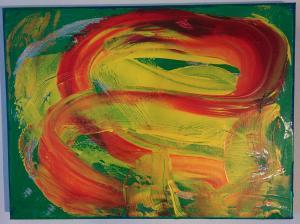019, Das Fliessende II Leinwand, Acryl     30 x 40
