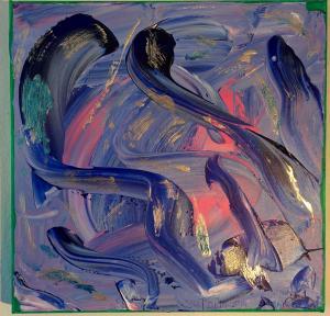 020, Regenbogen II  Leinwand, Acryl     30 x 30